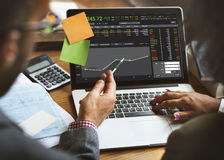 Börsenhandel-Devisen-Finanzgraphik-Konzept Stockfotos