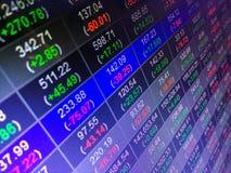 BörseSchaukasten-Konzepthintergrund Stockfotos