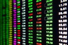 Börsmarknad som handlar dataskärmen arkivbild