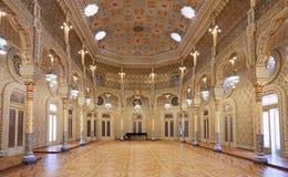 Börsslotten Palacio da Bolsa, arabiskt rum, porto Royaltyfria Bilder