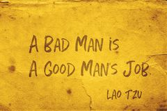 Böser Mann Lao Tzu stockfoto