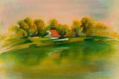 Landskap konstprodukten Royaltyfria Bilder