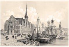 Børsen and Christianborg Palace, Copenhagen Stock Photo