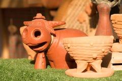 Búfalo cozido da argila Fotos de Stock