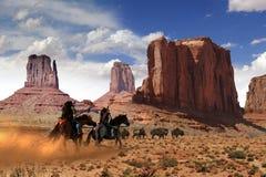 Búfalo da caça do nativo americano ilustração royalty free