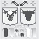 Búfalo del escudo de armas Ilustración Libre Illustration