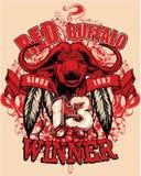 Búfalo vermelho ilustração royalty free