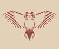 Búho con las alas separadas Foto de archivo libre de regalías