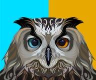 Búho de Eagle en vector Fotografía de archivo libre de regalías