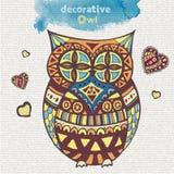 Búho decorativo Fotos de archivo
