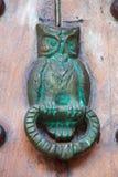 Búho del golpeador de puerta formado Foto de archivo libre de regalías