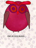 BÚHO en nuestra sangre Imagen de archivo libre de regalías