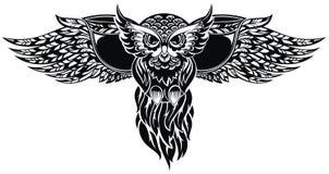 Búho Tatuaje Design Foto de archivo libre de regalías