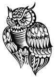 Búho Tatuaje Design Imágenes de archivo libres de regalías