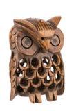 Búho woodcarved decorativo dentro de un búho Imagen de archivo libre de regalías