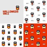 Búhos de Halloween Imagen de archivo libre de regalías