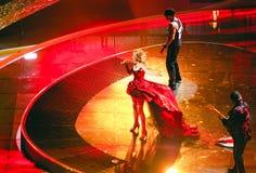 Búlgaro en la canción de la Eurovisión Belgra 2008 Imagen de archivo