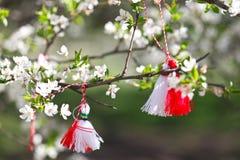 Búlgaro Martenitsa, primavera fotos de archivo libres de regalías