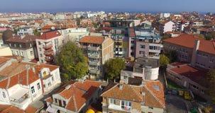 Búlgaro Pomorie en el otoño Centro de ciudad Imágenes de archivo libres de regalías