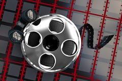 Búsqueda/análisis de la película Imagen de archivo libre de regalías
