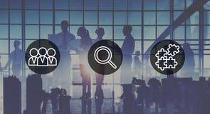 Búsqueda de concepto corporativo del trabajo en equipo del reclutamiento de los recursos humanos Imagen de archivo libre de regalías