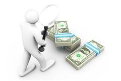 Búsqueda de concepto del dinero Imagen de archivo