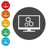 Búsqueda de diseño de la optimización del motor, icono de Seo libre illustration