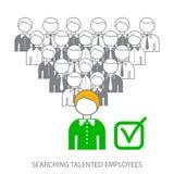 Búsqueda de empleados profesionales Búsqueda de empleados talentosos Elegir al candidato perfecto al trabajo ilustración del vector