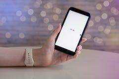 Búsqueda de Google en la pantalla blanca imágenes de archivo libres de regalías