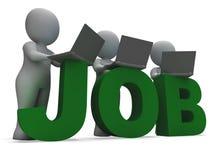 Búsqueda de Job Online Showing Web Employment Foto de archivo libre de regalías