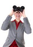 Búsqueda de la mujer de negocios Fotos de archivo libres de regalías