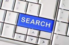 Búsqueda de la palabra en llave de teclado de ordenador Imagen de archivo