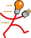 Búsqueda de la potencia ilustración del vector