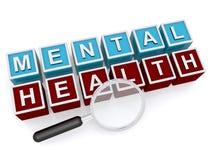 Búsqueda de la salud mental Imágenes de archivo libres de regalías