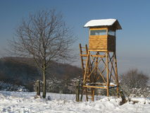 Búsqueda de la torre de la caza inmóvil Fotografía de archivo libre de regalías