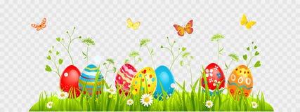 Búsqueda de los huevos de Pascua stock de ilustración