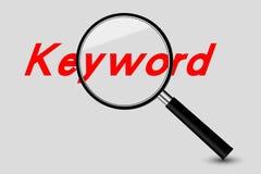 Búsqueda de palabra clave Imagen de archivo libre de regalías