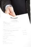 Búsqueda de trabajo - curriculum vitae imagen de archivo
