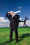 Búsqueda del hombre de negocios Imagen de archivo