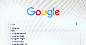 Búsqueda del Search Engine de Google para Instagram metrajes