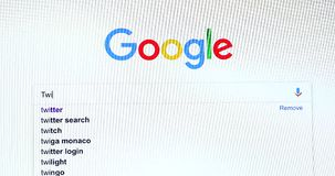 Búsqueda del Search Engine de Google para Twitter metrajes