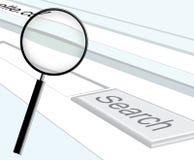Búsqueda del Web stock de ilustración