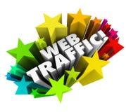 Búsqueda en línea Reputa de las opiniones del aumento del fondo de las estrellas del tráfico del web Imágenes de archivo libres de regalías