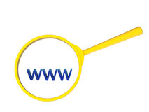 Búsqueda en World Wide Web Fotografía de archivo