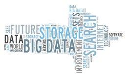 Búsqueda grande de los datos stock de ilustración