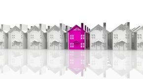 Búsqueda para la vivienda conveniente stock de ilustración
