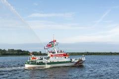 Búsqueda y bote de salvamento Vormann Jantzen Fotos de archivo