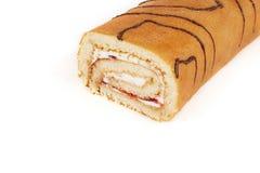Bûche de biscuit sur le fond blanc photos libres de droits