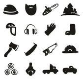 Bûcheron Icons Freehand Fill Photographie stock libre de droits