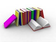 Bücher 3d gestapelt lizenzfreie abbildung